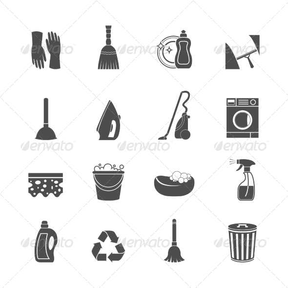 GraphicRiver Cleaning Icon 7576884