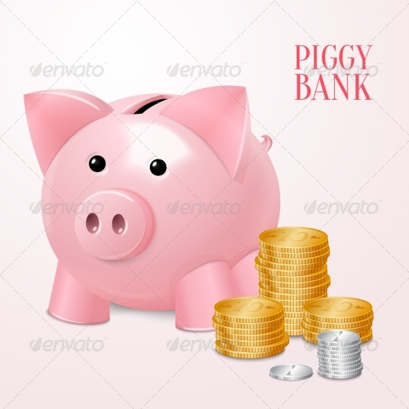 GraphicRiver Piggy Bank 7576886