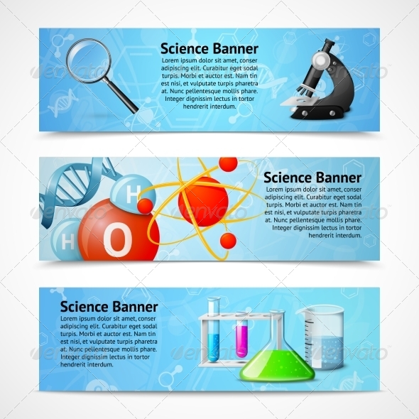GraphicRiver Science Realistic Banners 7576890