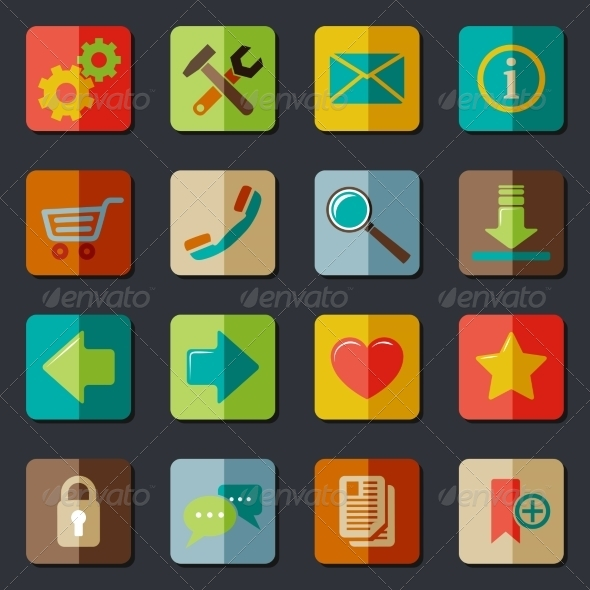 GraphicRiver Website Icons Set 7576891