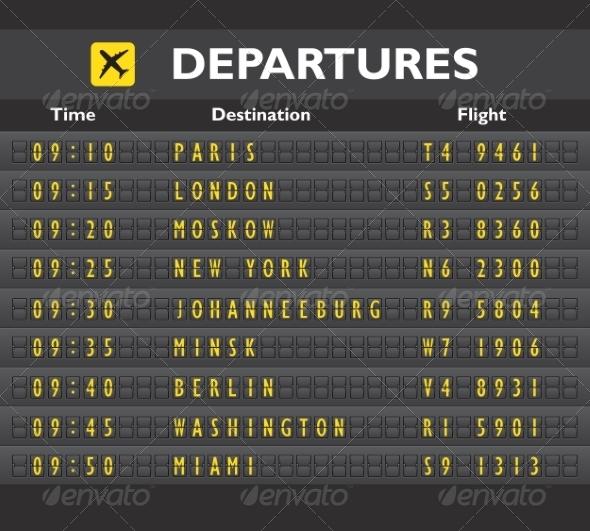 GraphicRiver Airport Board Print 7576892