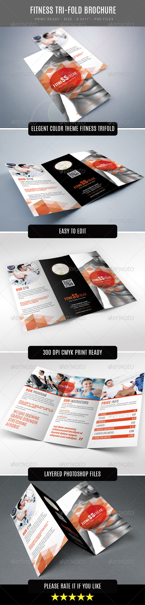 GraphicRiver Fitness Tri-Fold Brochure 7569468