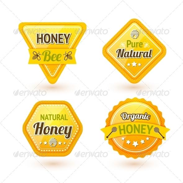 GraphicRiver Honey Labels Set 7576899