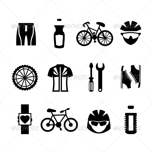 GraphicRiver Bicycle Icons Set 7576902