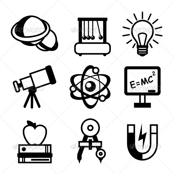 GraphicRiver Physics Science Icons 7576906
