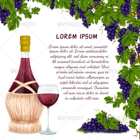 GraphicRiver Wine Background 7576910