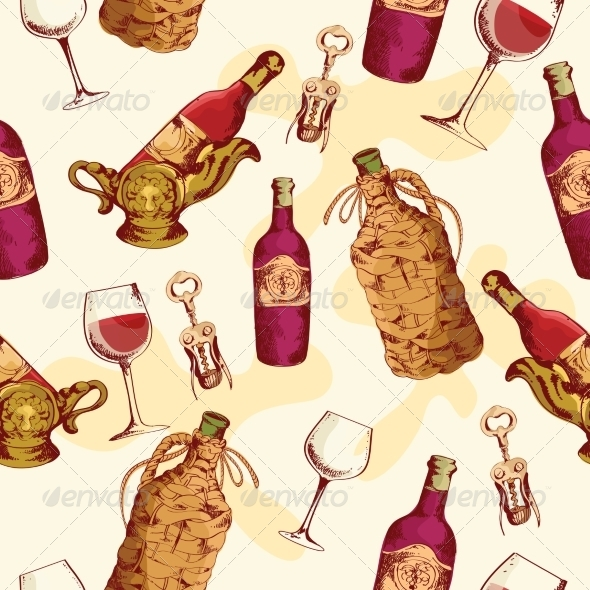 GraphicRiver Wine Pattern 7576978