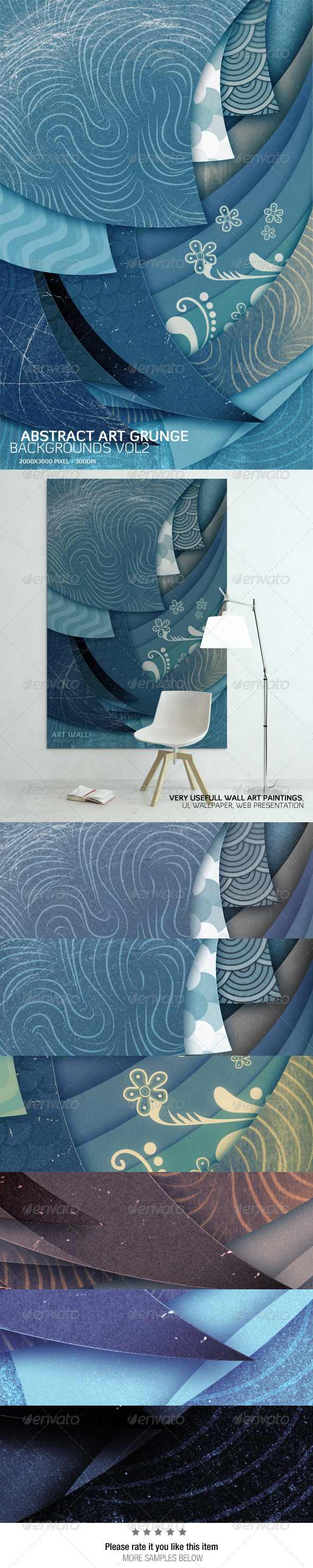 Abstract Art Grunge Background Vol2