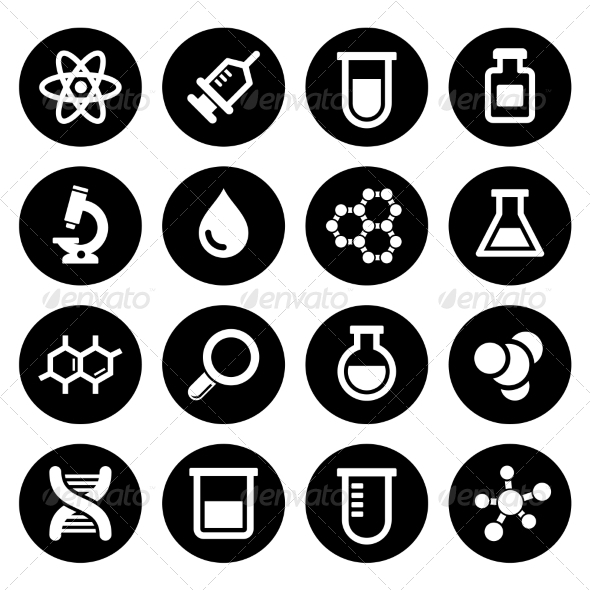 GraphicRiver Chemical Icons Set 7577315