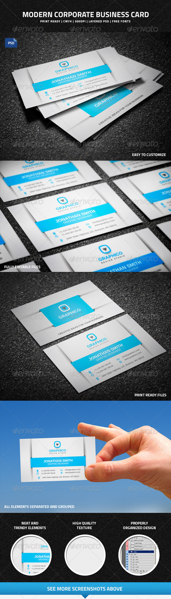 GraphicRiver Modern Corporate Business Card 7577451