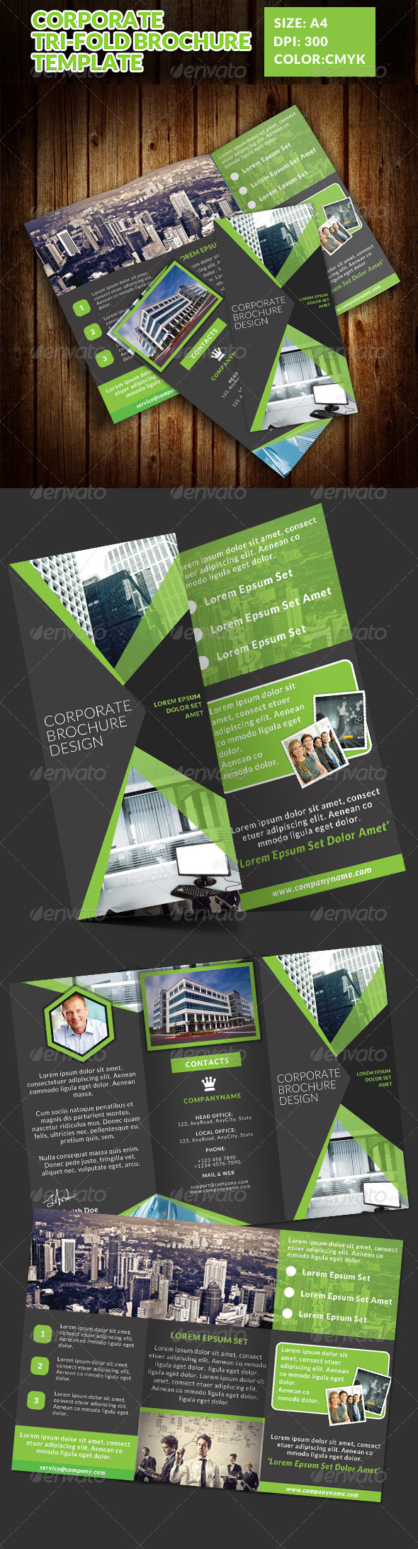 GraphicRiver Corporate Tri-Fold Brochures Template 4 7577450