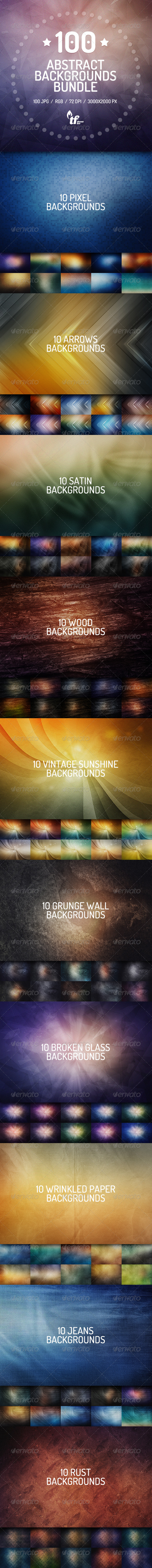 GraphicRiver 100 Abstract Backgrounds Bundle 7577567