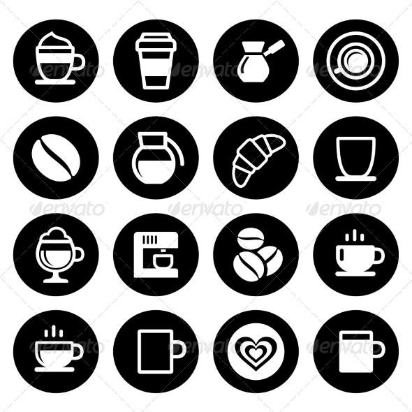 GraphicRiver Coffee Icon Set 7577670