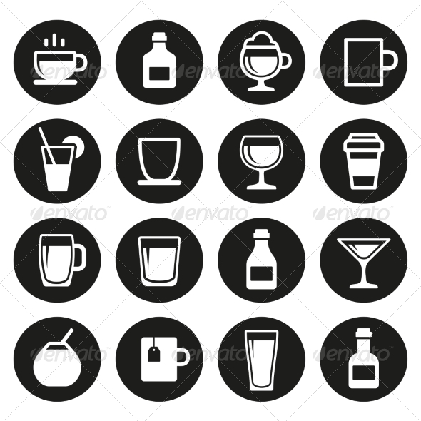 GraphicRiver Drink and Beverage Icons Set 7577713