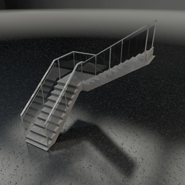 Stairs L-shape - 3DOcean Item for Sale