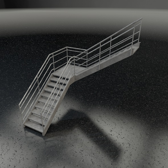 3DOcean Stairs L-shape 7577761