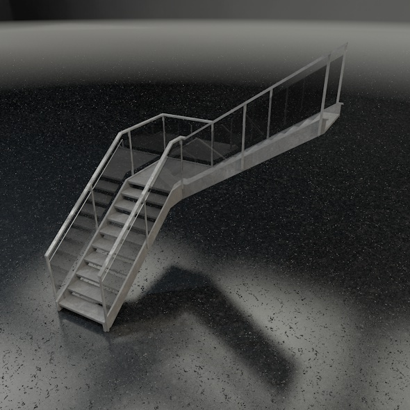 3DOcean Stairs L-shape 7577767