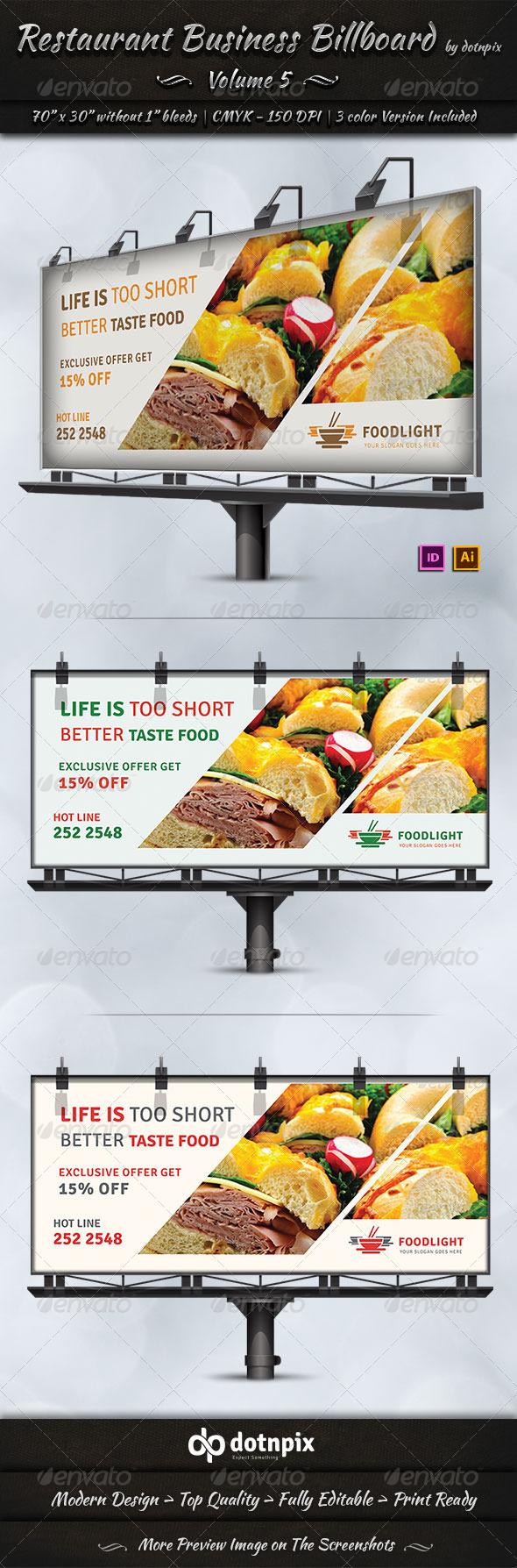 GraphicRiver Restaurant Business Billboard Volume 5 7577798