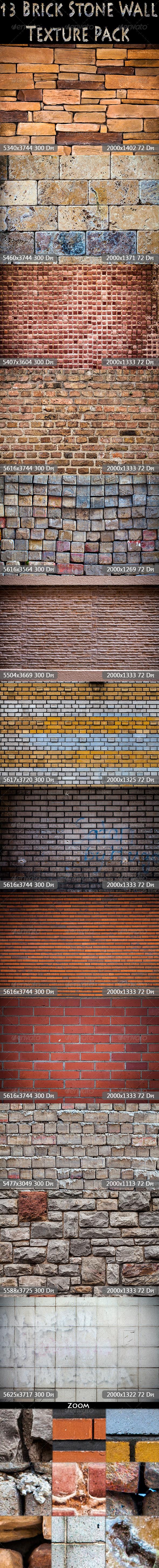 13 Brick Stone Wall Textrue Pack