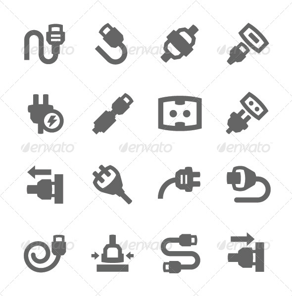 GraphicRiver Plug In Icons 7577995