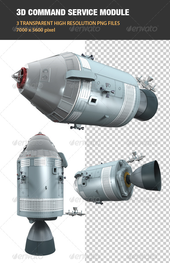 GraphicRiver 3D Command Service Module 7578039