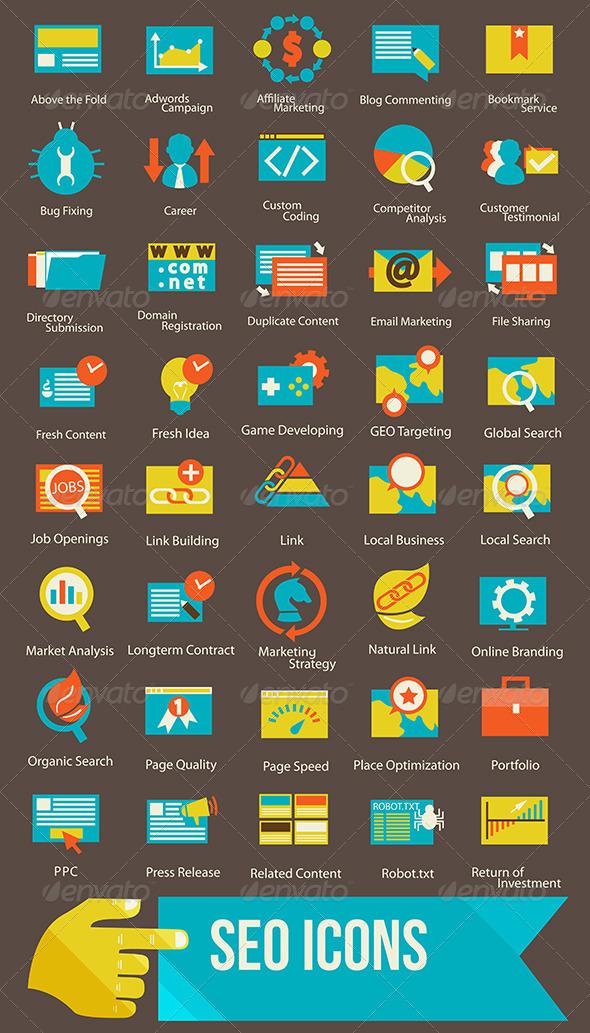 GraphicRiver Seo Icons 7578051