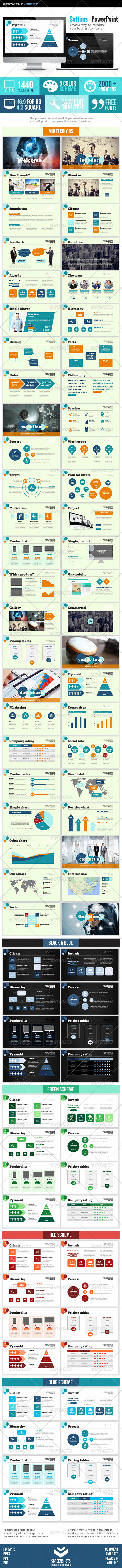 GraphicRiver Settims Powerpoint Presentation 7569287