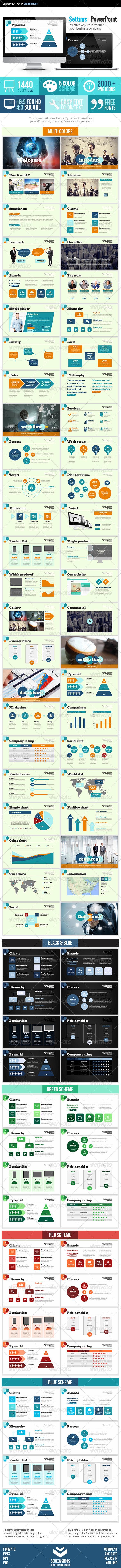 GraphicRiver Settims Powerpoint Presentation 7569287