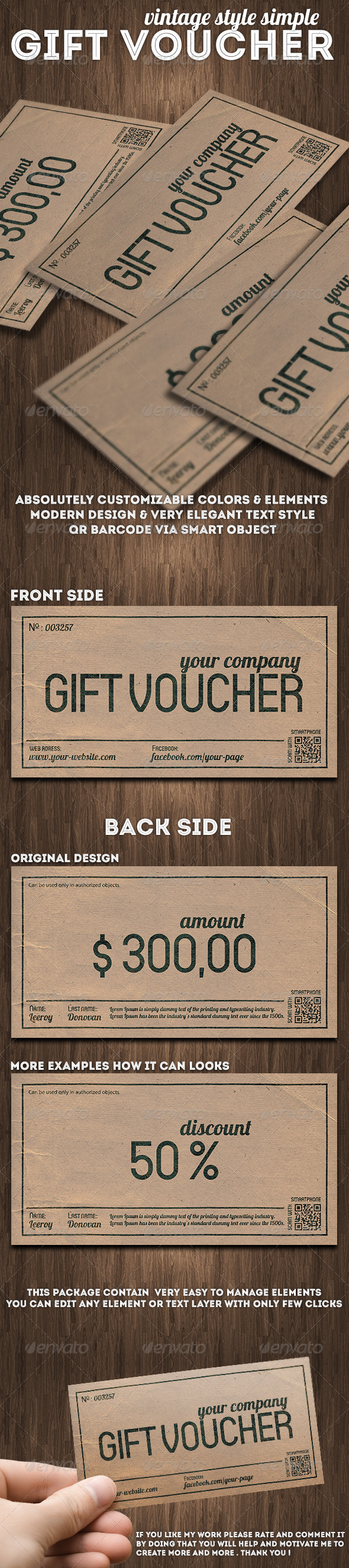GraphicRiver Vintage Style Gift Voucher or Discount Coupon 7578728