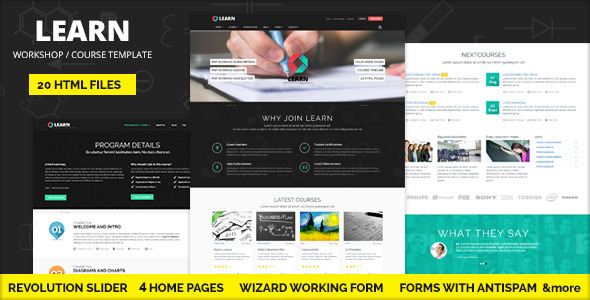 ThemeForest LEARN Courses Workshop Educational template 7522509