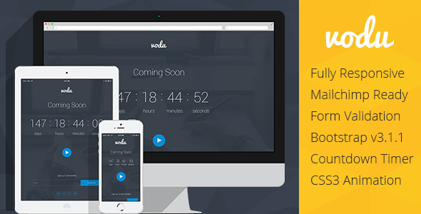 ThemeForest Vodu Coming Soon Responsive Template 7547944