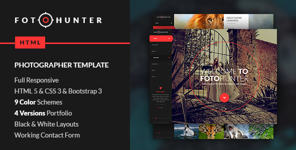 ThemeForest FotoHunter Creative Photographer Template 7524001