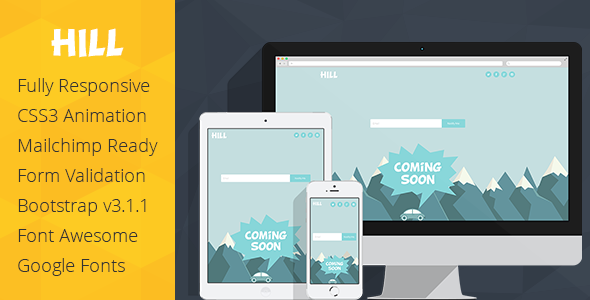 ThemeForest Hill Animated Coming Soon Responsive Template 7579424