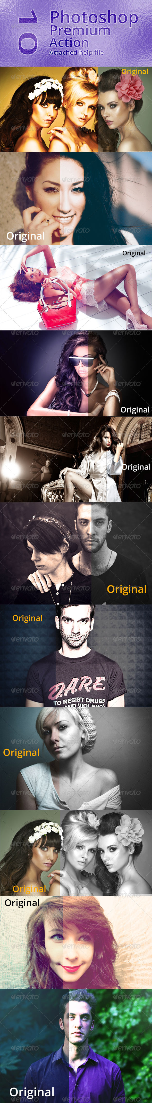 GraphicRiver 10 Photoshop Premium Actions 7579474