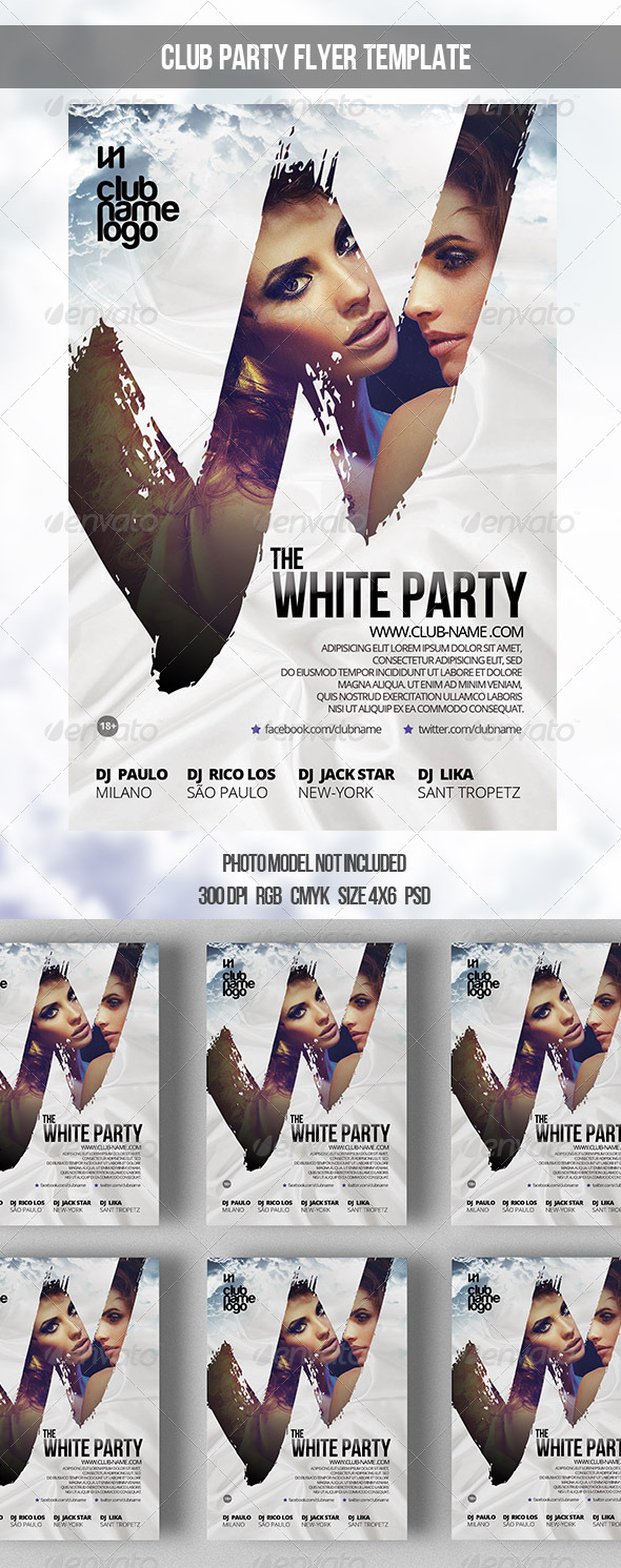 GraphicRiver The White Party Template 7580055