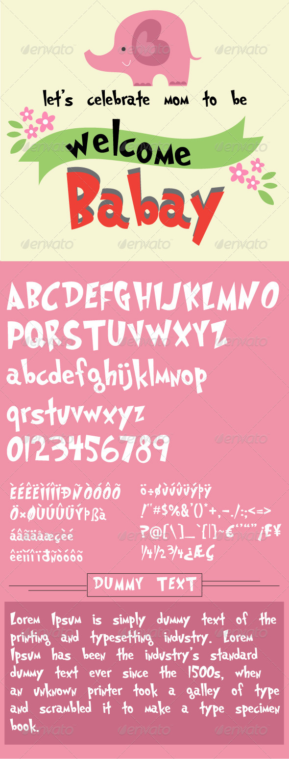 GraphicRiver Baby Jinx Font 7580256