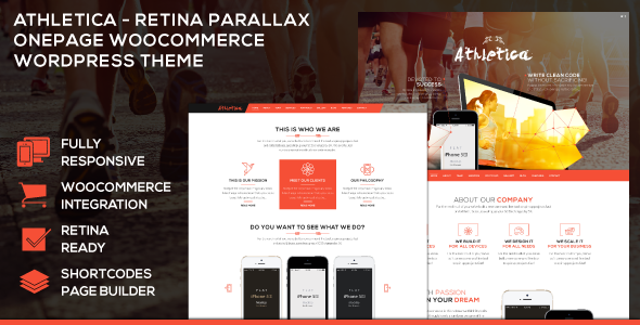 ThemeForest Athletica Retina Parallax OnePage WP Shop Theme 7580375