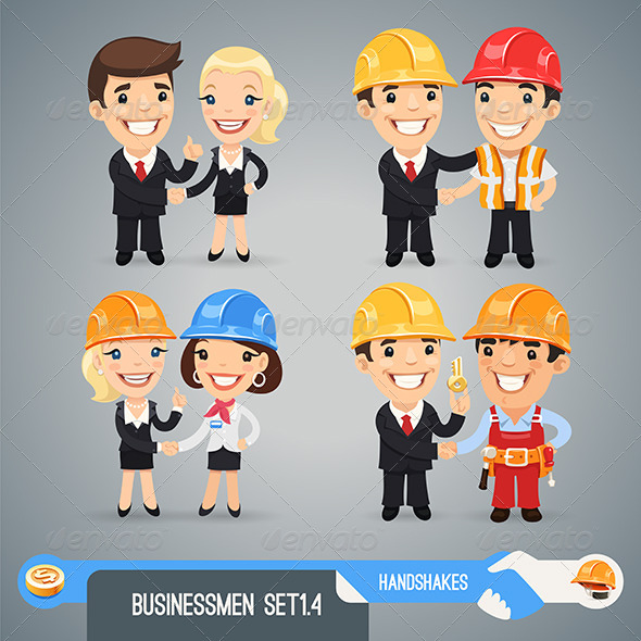 GraphicRiver Businessmen Cartoon Characters Set1.4 7580482