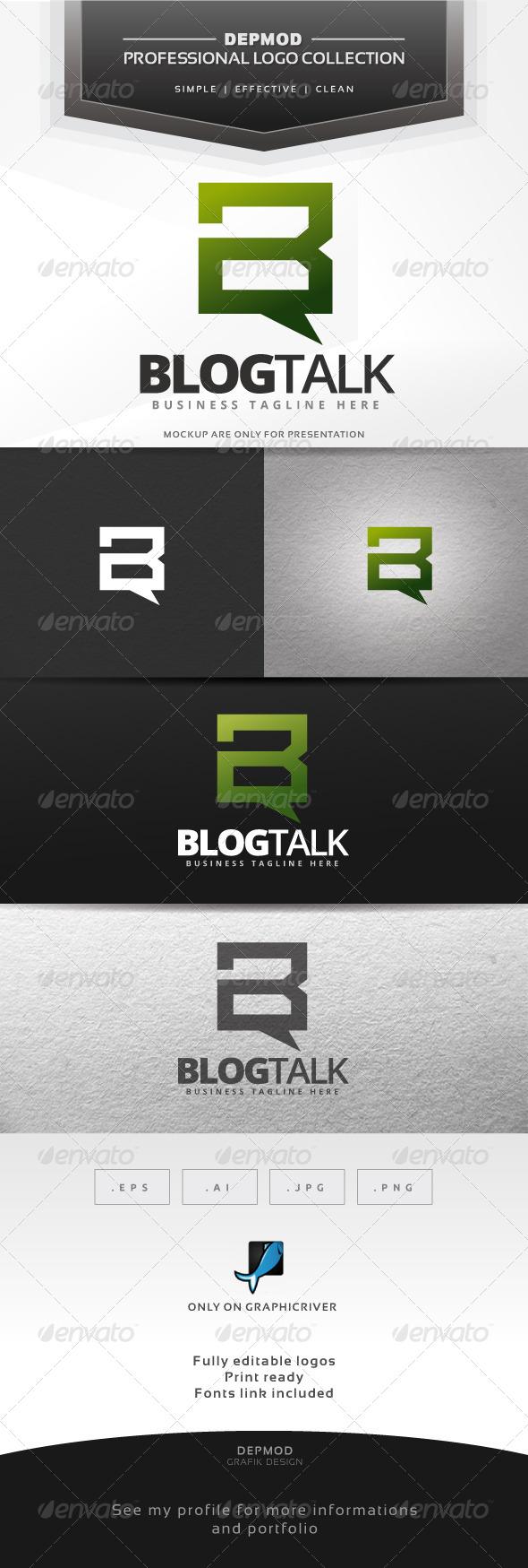 GraphicRiver Blog Talk Logo 7580824