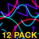 Glowing Strokes VJ Loops Pack - VideoHive Item for Sale