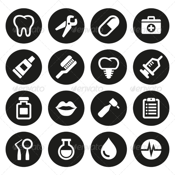 GraphicRiver Dental Icons Set 7581021
