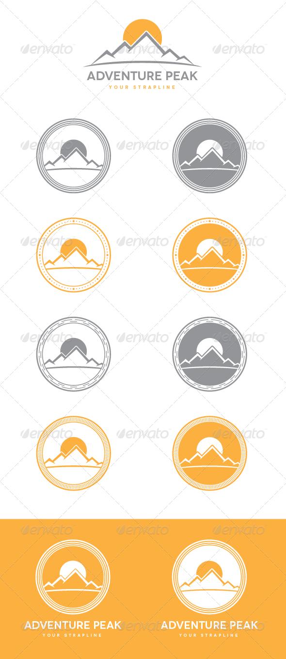 GraphicRiver Adventure Peak Emblem Logo Set 7581154