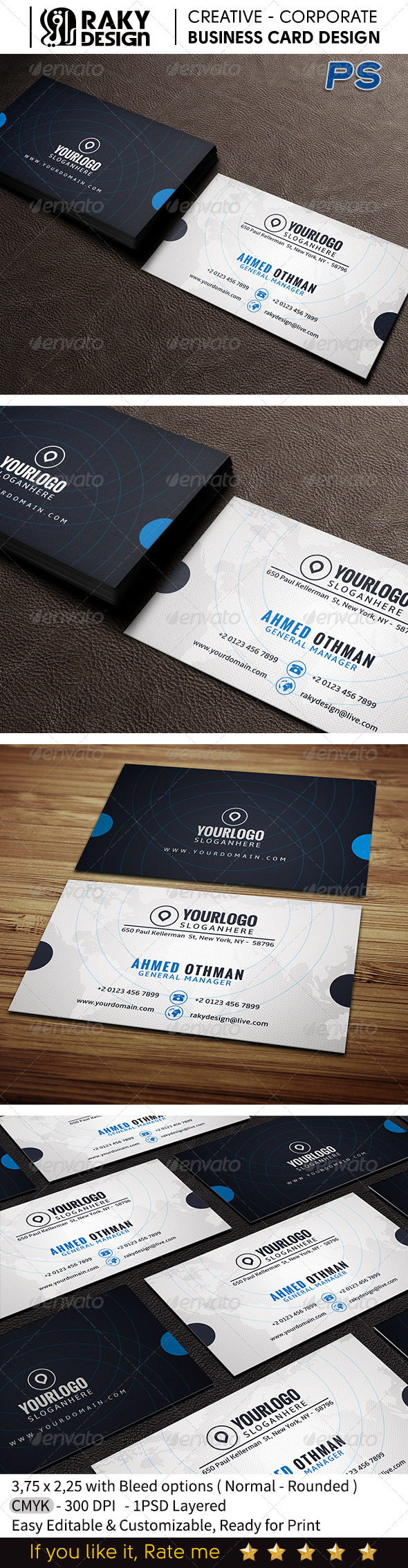 GraphicRiver Corporate Business Card V14 7581254