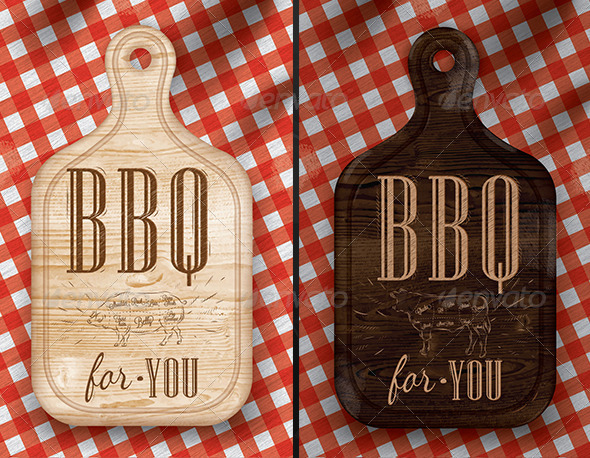 GraphicRiver Poster Meat Cutting BBQ 7581281