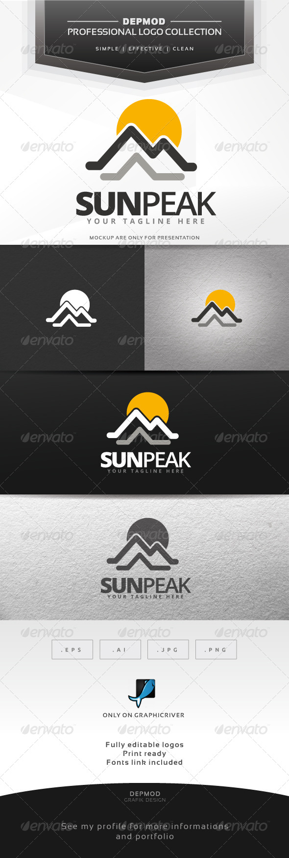 GraphicRiver Sun Peak Logo 7581316