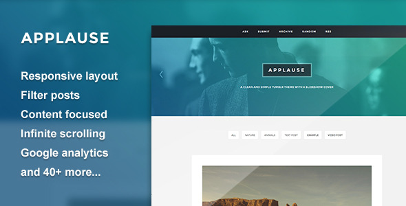 Applause - A Content Focus Theme