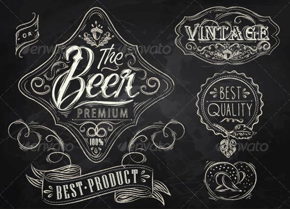 GraphicRiver Vintage Beer Elements 7581437