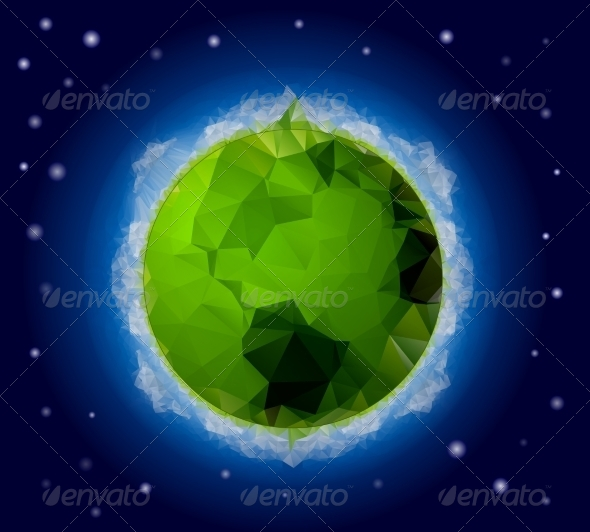 GraphicRiver Origami Style World Background 7581592