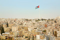 Amman city view with big Jordan flag - PhotoDune Item for Sale