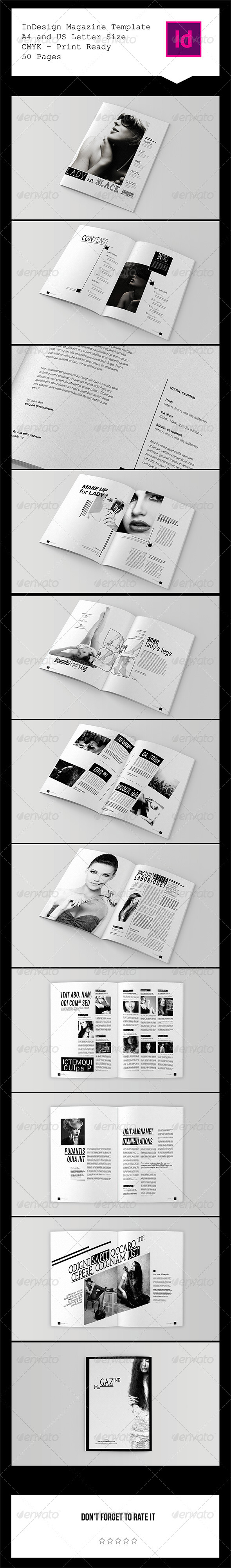 GraphicRiver InDesign Magazine Template 50 Pages 7581619